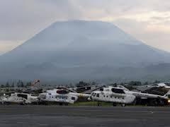 Congo elicotteri onu con vulcano