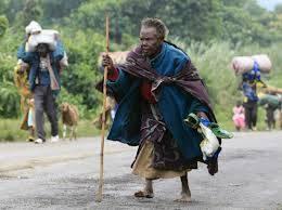 Congo popolazione in fuga