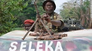 Seleka in carro armato
