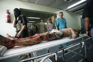 Palestinians injured by Israeli military attack