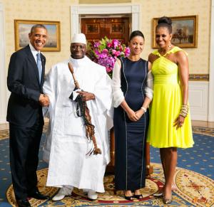 Obama e il gambiano Yahya Jammey