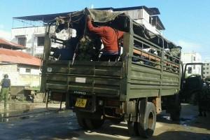 Camion porta via aestati
