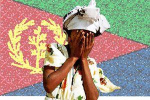Piange davanti bandiera