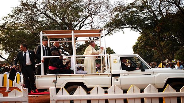 Bangui, Papa Bergoglio