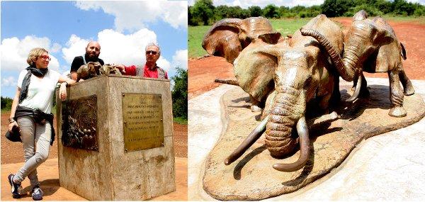 Monumento agli elefanti nell'Ivory Burning Memorial Site Nairobi National Park, (foto © Sandro Pintus)