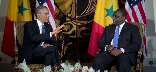 Il presidente Macky Sall con il suo omologo americano Barak Obama