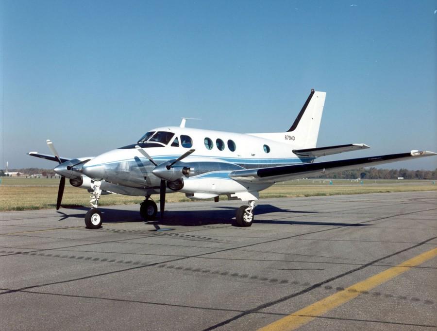 Un aereo Beechcraft King Air simile a quello che sorvola la Libia in missioni di spionaggio