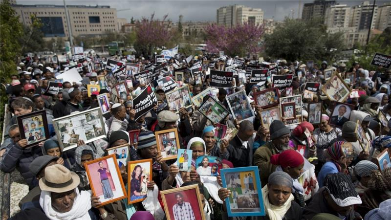 Manifestazione di falasciè in Israele