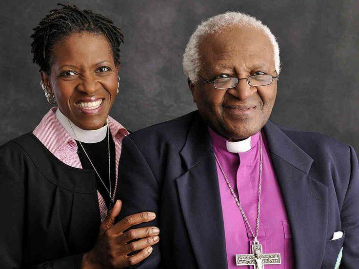 Mpho Tutu e il padre Desmond