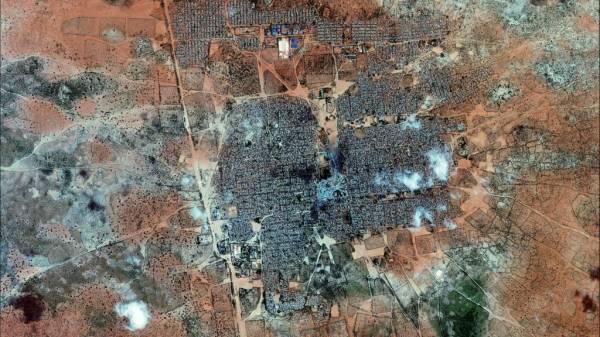 Veduta aerea del campo di Dadaab