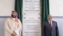Il principe ereditario saudita Mohammed bin Salman bin Abdelaziz con il presidenta sudafricano Jacob Zuma