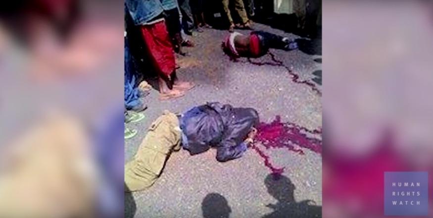 Morti ammazzati dalle forze di sicurezza etiopi (courtesy Hrw)