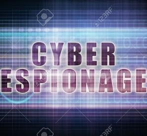 Spionaggio informatico-su-un-grafico-Tech-Business-Art-Archivio-Fotografico