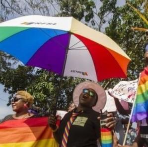 La manifestazione dei gay dell'anno scorso in Uganda (foto AFP)