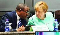Angela Merkel con Hailemariam Desalegn