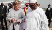 Angela Merkel e il presidente del Mali Ibrahim Boubacar Keita