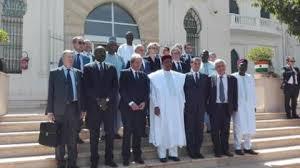 Delegazione Italiana - UE in Niger con il presidente Mankeur Ndiaye nigerini, al centro