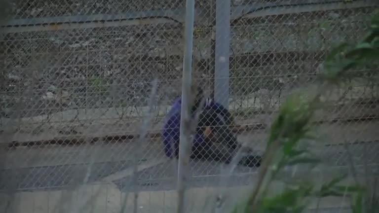 Ceuta, parte della recinzione