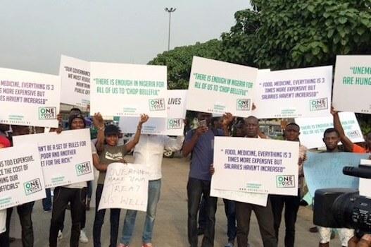 Manifestazione contro il governo nigeriano a Lagos e ad Abuja, la capitale