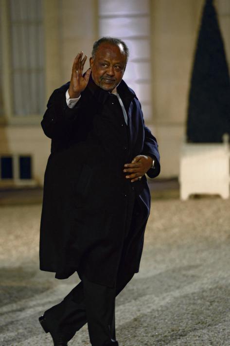 Ismail Omar Guelleh a Parigi durante un summit per la pace in Africa nel 2013 . Feferberg/AFP