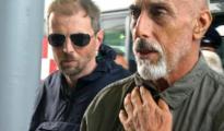 Fulvio Alberto Leon e, uno dei tre arrestati, al suo arrivo all'aeroporto di Fiumicino