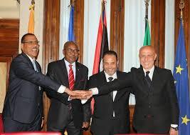 Marco Minniti, ministro degli Interni con i suoi omologhi di Libia, Ciad e Niger al Viminale