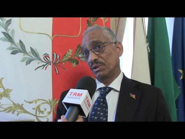 The Italian Ambassador to the State of Eritrea, Petros Fessazion