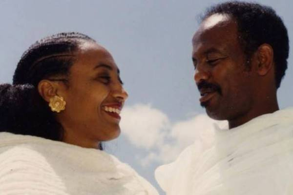 Aster Yohannes and Petros Solomon at the time of their marriage when they were both leaders of the Popular Front for the Liberation of Eritrea