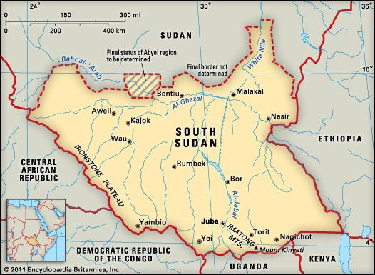 South Sudan map 2