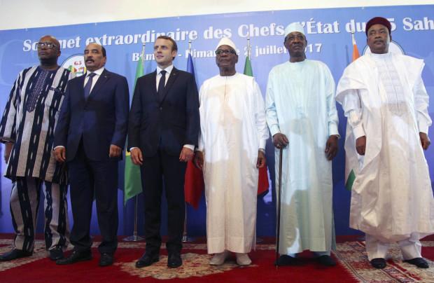 Foto di gruppo del G5 Sahel del 2 luglio 2017 a Bamako