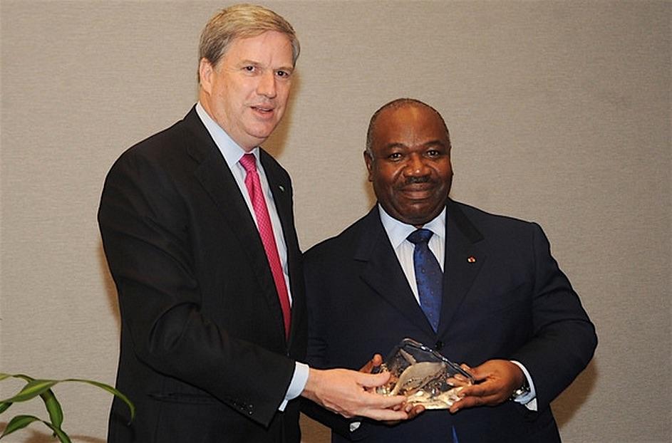Premiazione del presidente del Gabon Ali Bongo Ondimba