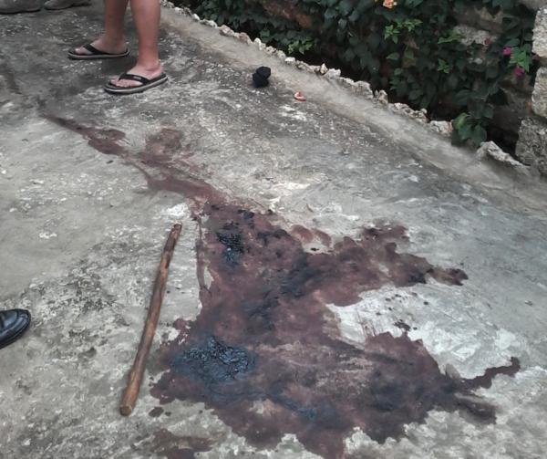 Il punto accanto al muro di cinta dove è stato assalito Luigi Scassellati