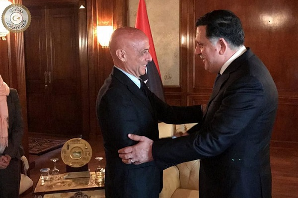 Marco Minniti con Fayez al-Sarraj
