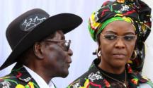 Robert Mugabe, presidente dello Zimbabwe e la moglie Grace