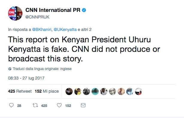 Il tweet della CNN