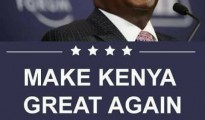 """Make Kenya great again"" lo slogan del candidato alla presidenza Raila Odinga"