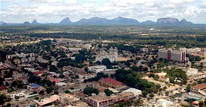 Veduta della città di Nampula, Mozambico