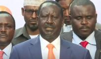 Raila Odinga alla conferenza stampa di oggi