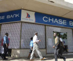 The Chase Bank branch in Mama Ngina St. downtown Nairobi