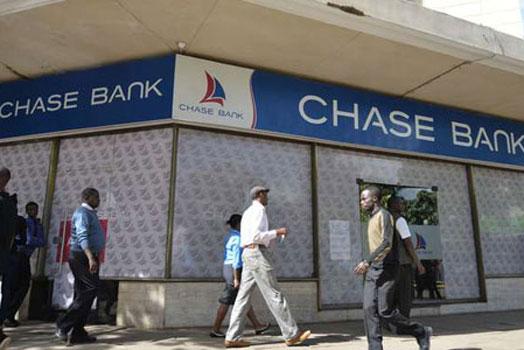 The Chase Bank branch in Mama Ngina St. downtown Nairobi