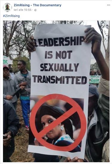 """Un tweet della manifestazione di ieri contro Gucci Grace: """"la leadership non è sessualmente trasmissibile"""""""