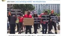 Tweet della manifestazione del Partito comunista sudafricano per l'arresto di Zuma