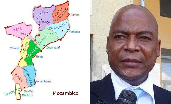 Mappa del Mozambico, Manuel Bissopo della Renamo, ferito in un attentato a Beira