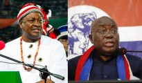 John Mahami, presidente del Ghana a sinistra Nana Akufo Addo, candidato alla presidenza, a destra