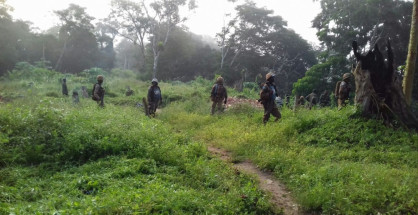 MONUSCO troops in support of Congolese army conducting operations to neutralize armed groups and ensure protection of civilians in Beni region