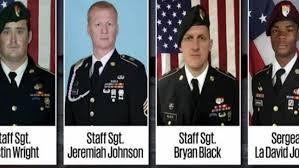 I quattro militari USA uccisi in Niger