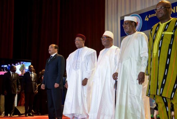I presidenti degli Stati del G5 Sahel a Bruxelles il 23.2.2018