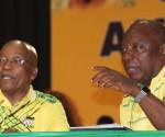 Jakob Zuma e Cyril Ramaphosa al 54° Congresso dell'Anc