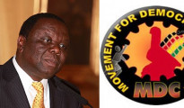 Morgan Tsvangirai e il logo del Movement for Democratic Change (Mdc)