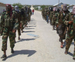 Miliziani di al-Shebab in Somalia